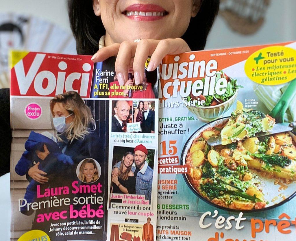N'oye est dans les magazines Voici, Cuisine Actuelle