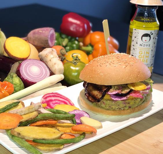 Burger 100% légumes - Sauce N'oye Gingembre
