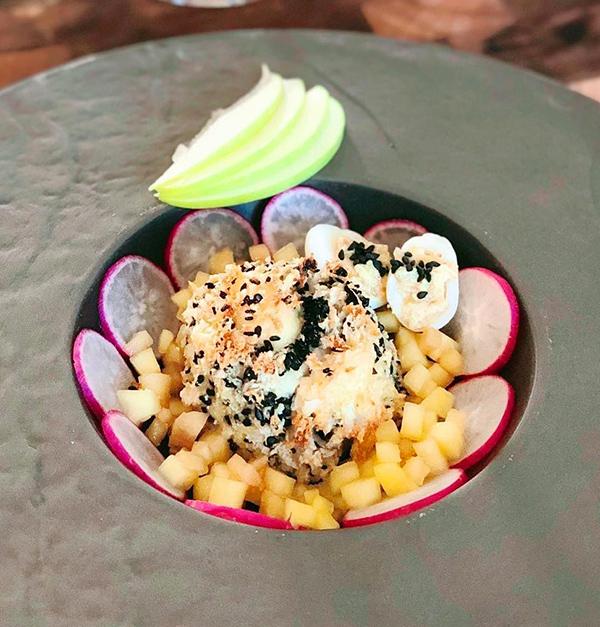 Filet de merlan au fromage - Sauce Sésame & Piment du Japon