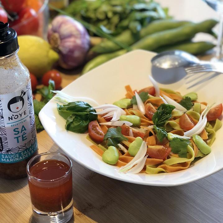 La petite salade de l'été - Sauce N'oye Saté