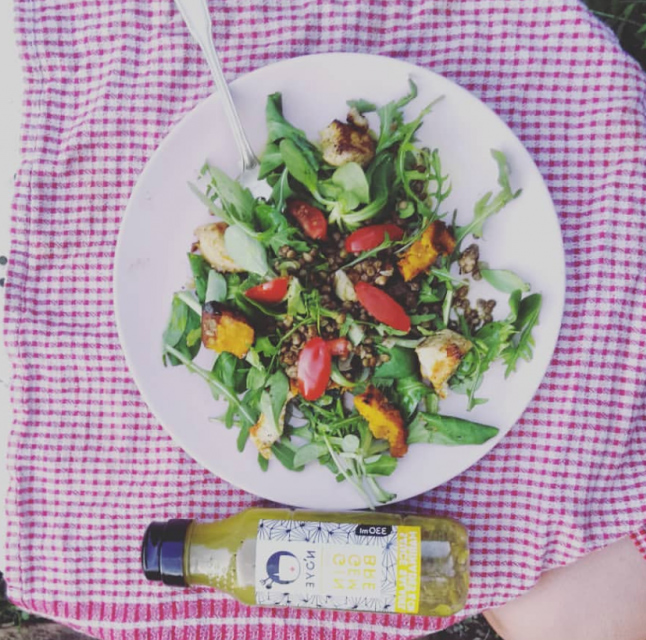Salade de lentille - Sauce N'oye Gingembre