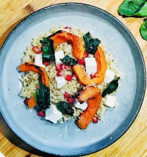 Salade de quinoa à la fêta - Sauce N'oye Cardamome