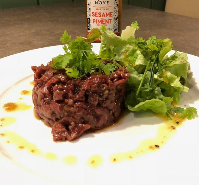 Tartare de bœuf à la Thaï - Sauce Sésame & Piment du Japon